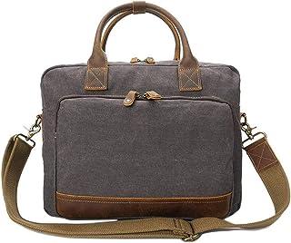 LIUFULING Men's Retro Canvas Messenger Bag Canvas Backpack Hiking Durable Crossbody Shoulder Bag (Color : Gray, Size : OneSize)
