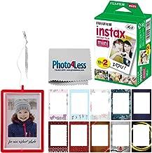 Fujifilm Instax Mini Instant Film Twin Pack (20 Sheets) | Fujifilm Holiday Frame Stickers | Fujifilm Holiday Ornament