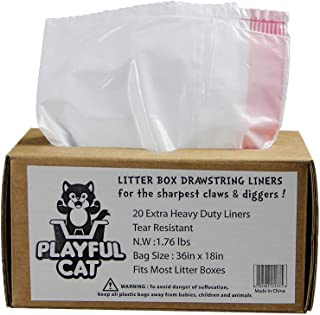 Cat Litter Liners Jumbo, Extra Heavy Duty 20 Count Cat Liners, Sifting Cat Litter Box Liners, Clever Cat Top Entry Litter Box Liners Extra Thick, Tear Resistant