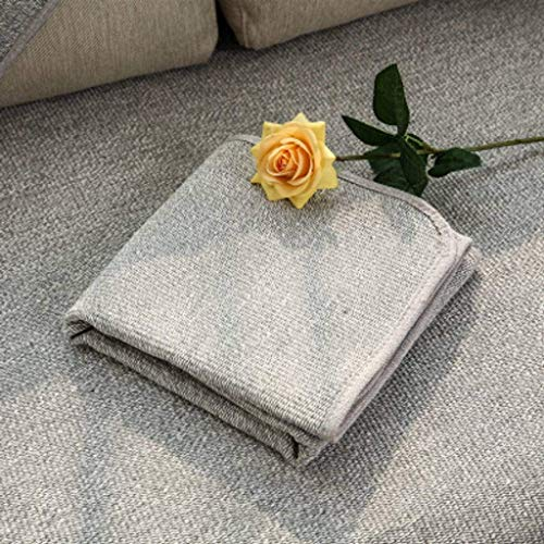 Jonist Funda de Lino para sofá, Jacquard Simple y Elegante para Sala de Estar, Funda Antideslizante para Muebles, Shield-M-70X100cm