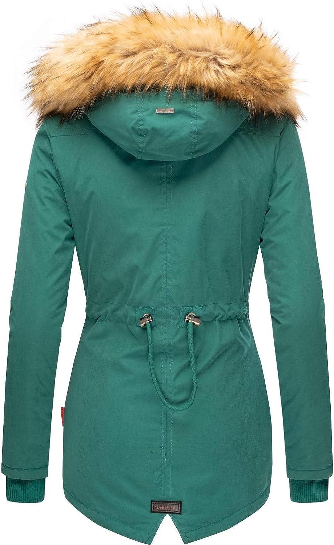 Marikoo Damen Mantel Wintermantel Winterparka Akira XS-XXL Ocean Green