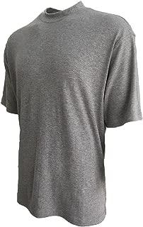 100% Cotton Mock Turtleneck Shirt Short Sleeved Pre-Shrunk 4 Colors