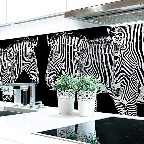 Keuken achterwand Zebra Look Premium Hard PVC 0,4 mm zelfklevend - direct op de tegels Materialprobe A4