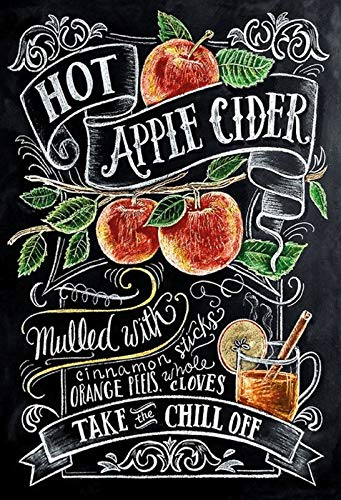 FS Alcohol Hot Apple Cider Recept blikken bord gewelfd Metal Sign 20 x 30 cm