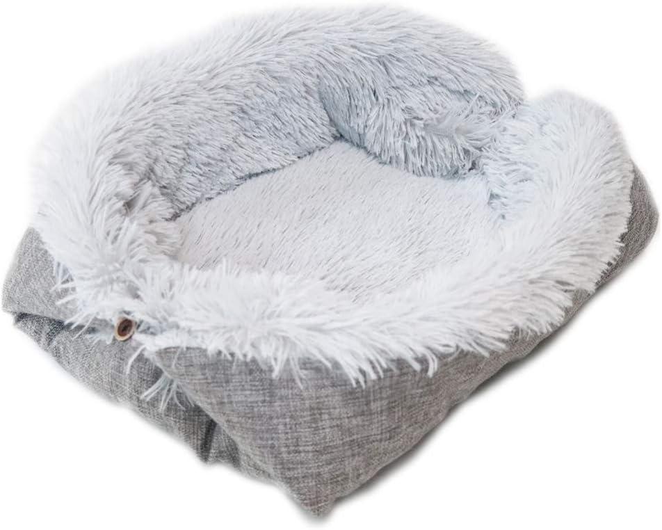 Abcidubxc Cat Bed Plush Cat Nest Washable Dog Bed Cat Nest Fluffy Soft Sofa Cushion