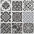 9PC 12x12 Inch Large Reusable Stencil Mandala Stencil Painting Template for Floor Wall Tile Fabric Furniture Painting Stencils Mandala Stencils for Painting on Wood (9PC-12x12 Inch, 9PC-Set Floor)