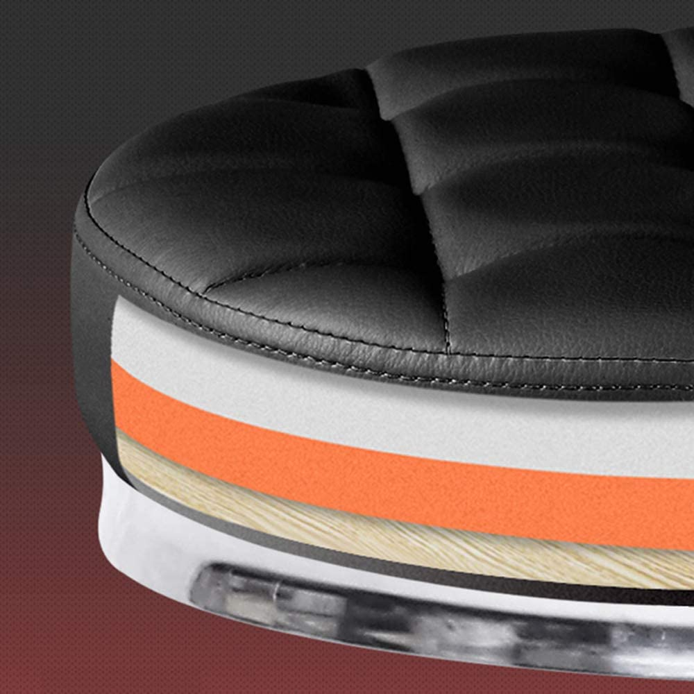 DLMPT Tabouret De Bureau avec 5 roulettes Chaise Bureau Tabouret Travail avec roulettes Réglable en Hauteur pour Bureau Salon De Beauté Tatouage,Noir Pink