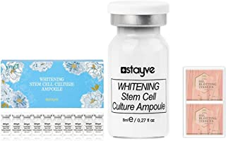 Stayve Whitening Stem Cell Culture Ampoule Serum 8 ml x10 vials Bundle with 2 Packs of Herblandia Oil Absorbing Blotting Paper