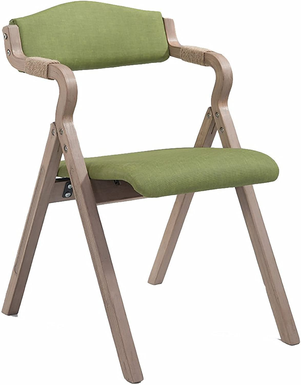 KXBYMX Modern minimalist retro folding dining chair fabric home chair study leisure chair  home stool (color   A)