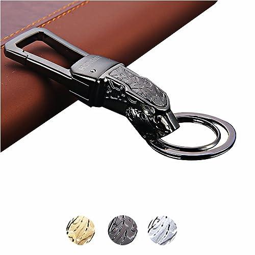 Alloy Keychain,Key Chain with Metal Jaguar Head,Heavy Duty Car Keychain for Men
