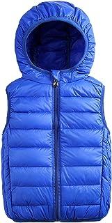 Aivtalk Boys Zip Puffer Down Vest Toddler Baby Hooded Padding Sleeveless Clothes Coat