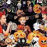 Halloween Deko, 42 Stück Luftballons Halloween Horror Deko Set, inklusive Fledermaus, Spinne, Kürbis Deko, Happy Halloween Banner, für Garten Bar Wohnzimmer Horror Party - 6