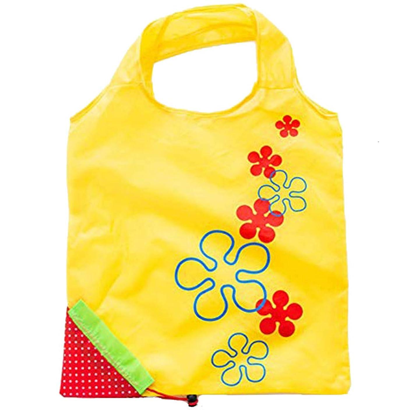 歩き回る朝の体操をする縫い目エコバッグ 買い物バッグ 買い物袋 折り畳み防水エコバッグ 小物収納 軽量 コンパクト 大容量