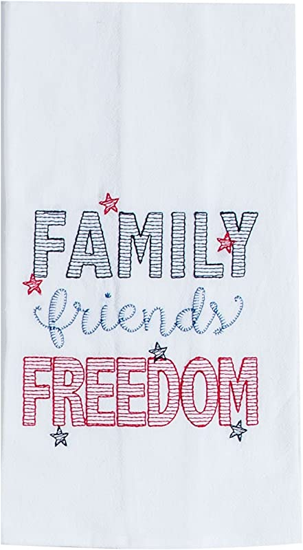 Kay Dee Designs R6506 Freedom Embroidered Flour Sack Towel