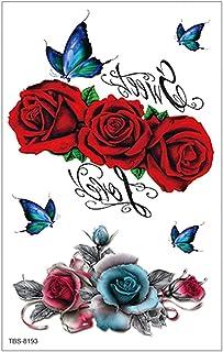 3 stks nieuwe waterdichte tattoo stickers bloemen wolf hoofd tijger leeuw schedel tijdelijke stickers Europese en Amerikaa...