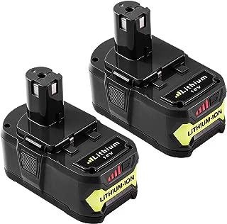 6.0Ah for Ryobi 18v Battery for Ryobi Lithium Battery One Plus P100 P102 P104 P105 P108 P107 2-P