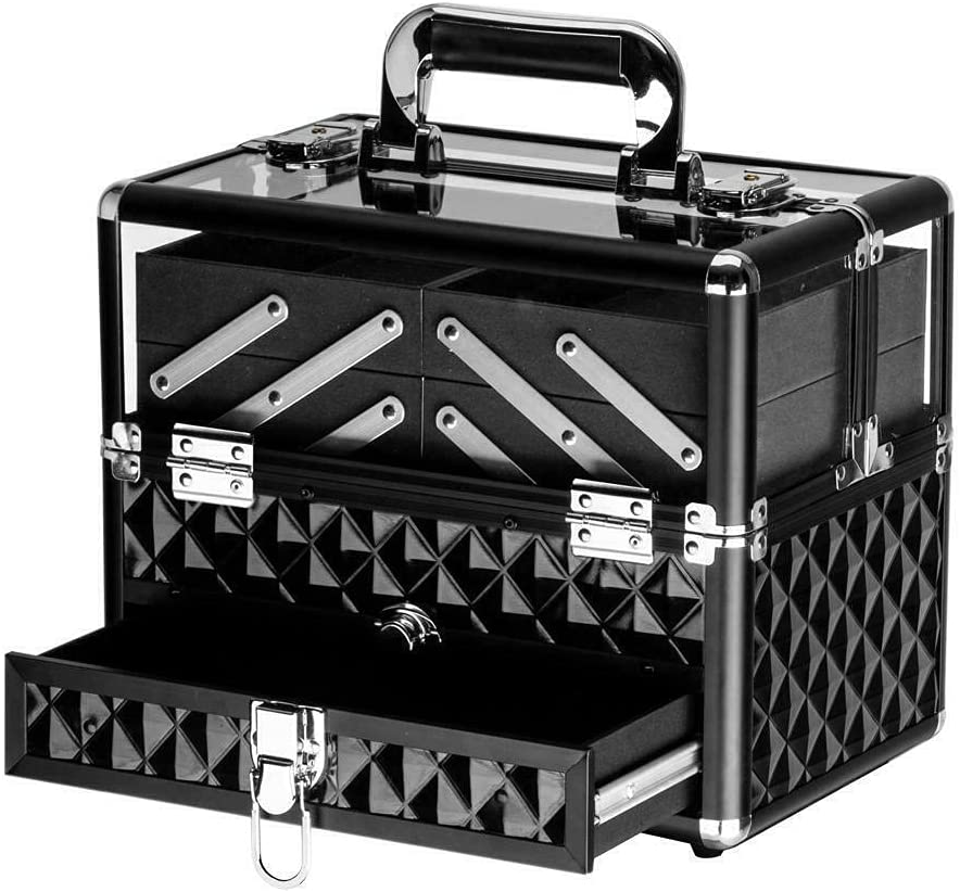 Aluminum Visual Max 51% OFF Makeup Cosmetic Case Free Shipping Cheap Bargain Gift Bag Jewelry Stora Organizer