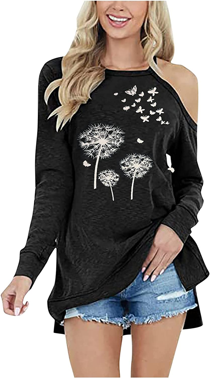 WXYGY Spring new work one after another Womens Casual Off The Skew Tops Shoulder Ranking TOP1 Neck Print