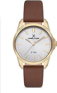 ساعة دانيال كلاين دي تو للنساء - مينا فضي بسوار بني - DK.1.12623-6