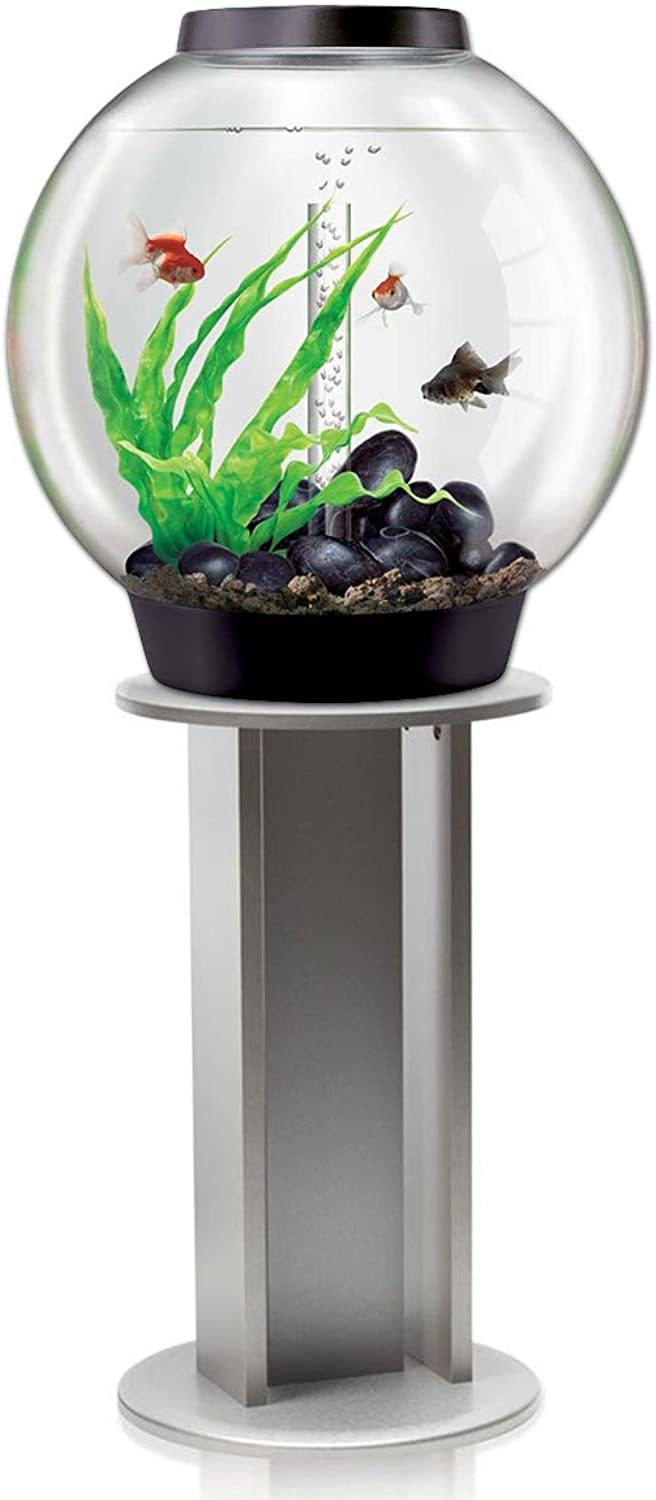 BiOrb Classic 60L Black Aquarium with MCR LED Lighting and Silver Stand