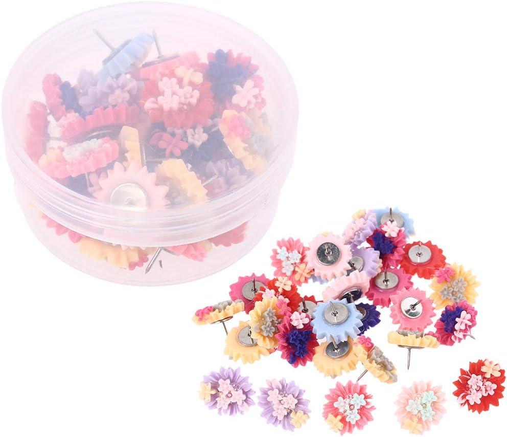 Vxkbiixxcs-o Thumbtack Max 71% OFF Ranking TOP12 Pins 30 Flowers Thumbtac Starfish Pieces
