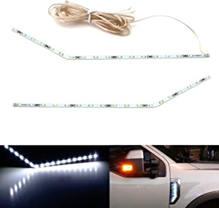 iJDMTOY Xenon White LED Background Illumination Kit For 2017-2020 Ford F250 F350 F450 Super Duty Side Fender Chrome Emblem