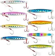 【オルルド釣具】メタルジグ F (8サイズ:15g、25g、40g、60g、80g、100g、120g、150g) アシストフック付 シルバーフック &魚に見えにくい赤フック オールシーズン対応 シーバス・ヒラメ・マゴチ・タチウオ・サゴシ・ハマチなどに qb100143