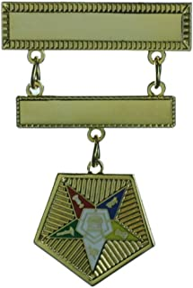 Hattricks Goodimpression OES Eastern Star Grand Officer Jewel Past or Present Gold Plated Brooch