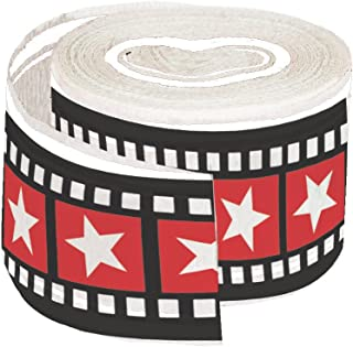 Creative Converting 315205 Hollywood Lights Crepe Streamer, 30', Red/Black/White