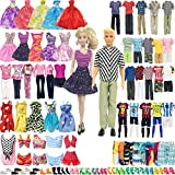 SOTOGO 56 Pieces Doll Clothes and Accessories for 11.5 Inch Girl Boy Doll Clothes Different Occasions Include 20 Sets Handmade Doll Dresses/Casual Clothes/Swimsuit/Sportswear and 18 Pairs Shoes