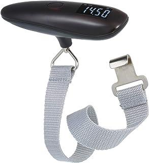 Lepeuxi Balança digital para bagagens suspensa com tela LCD retroiluminada, portátil, balança de peso para bagagem de viagem