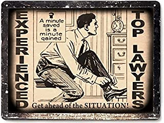 Lawyer attorney metal Sign / vintage style retro plaque office wall decor art 192