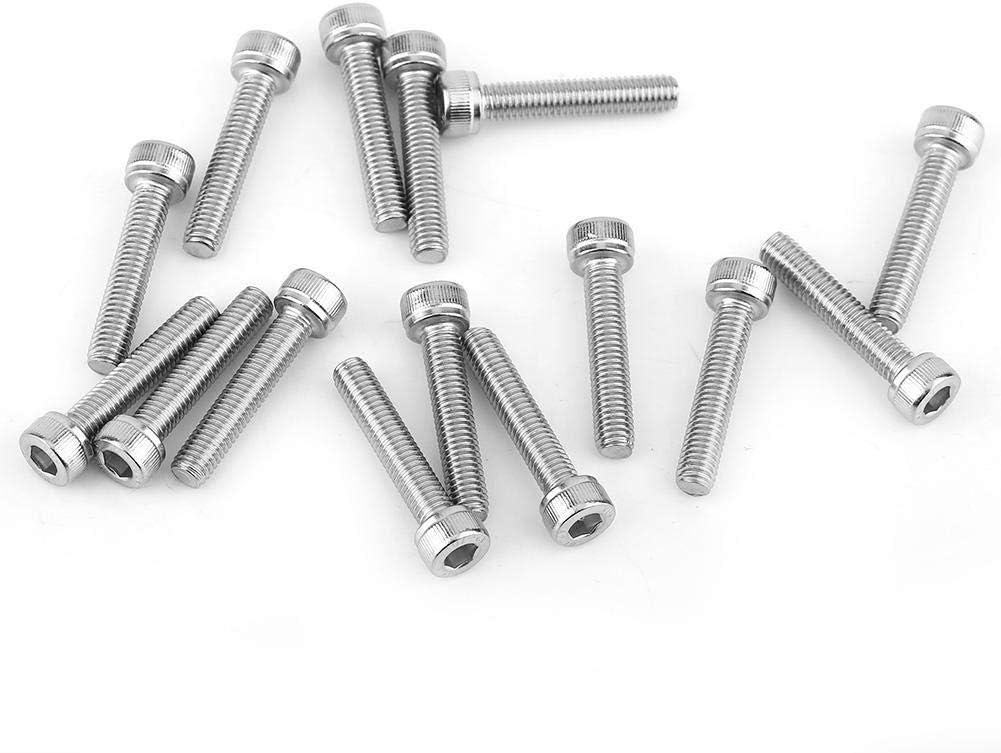 M6120pcs Hex Socket Screws,M3-M8 SS304 Stainless Steel Metric Thread Hex Socket Cap Head Screws Bolts with Hex Nut Washers Assortment