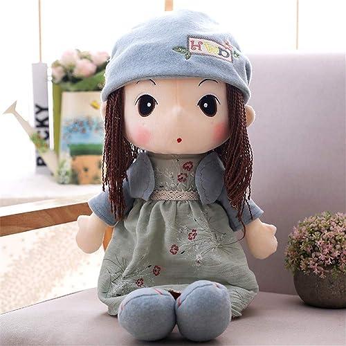 PANGDUDU Blau Sü mädchen Puppe Plüschtier Puppe Kinder Puppe Prinzessin Schlafkissen Geburtstagsgeschenk Kinder, 90Cm