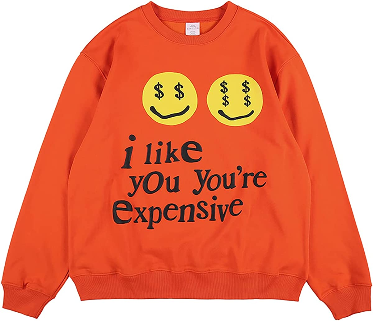 CPFM I Like You You're Espensive Sweatshirt Letter Print Hip Hop Crew Neck Hoodie For Men And Women