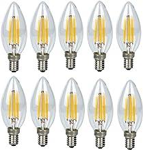 10 Pack 4 Watt LED Pendant Ceiling Light Bulbs Modern Edison E14 Base Holder Candle Light Bulbs Chandelier Lighting Lamp B...