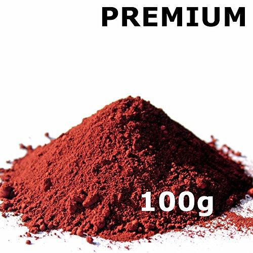 Pigmentpulver, Eisenoxid, Oxidfarbe - 100g (29,90€/kg) im Beutel Farbpigmente, Trockenfarbe für Beton, Epoxidharz + Wand - Farbe: rot/ziegel