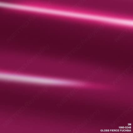 VViViD 3M Gloss Fierce Fuchsia Vinyl Film Wrap 12 Inches x 5 Feet Roll DIY Easy to Install Self-Adhesive 1080 Series