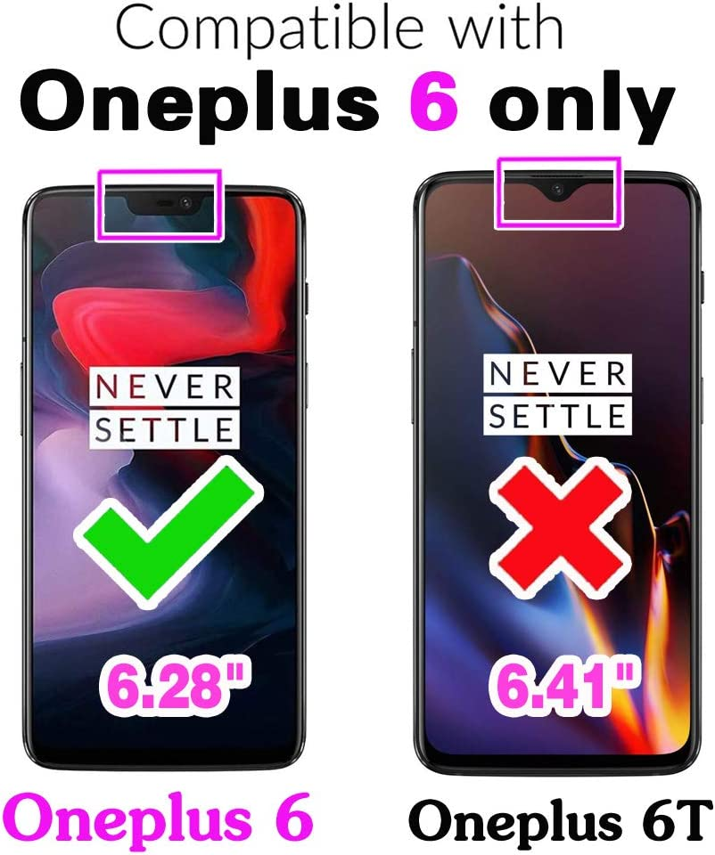Phone Case for Oneplus 6 Folio Flip Wallet PU Leather Credit Card Holder Slots Heavy Duty Full Body Protection Kickstand Protective Phone Cover for Oneplus6 A6000 A6003 One Plus6 Plus Blue