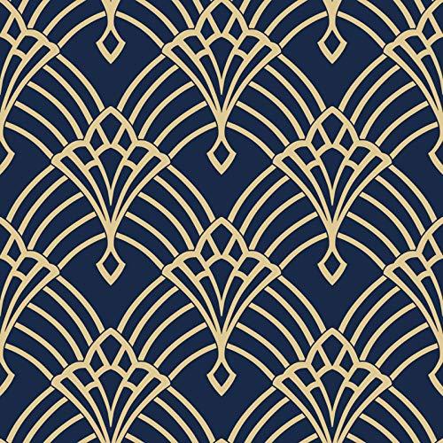 Waldorf Deco Tapete Navy/Gold World of Wallpaper 274447