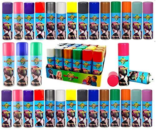 Entfernbar Haarfarbe Spray Waschung Aus Spray 125ml Verschiedene Farben - Fluoreszierend Orange, 125ml