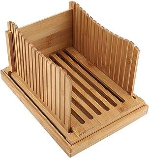 Guide de coupe-pain, guide de coupe-pain en bambou pliable avec ramasse-miettes
