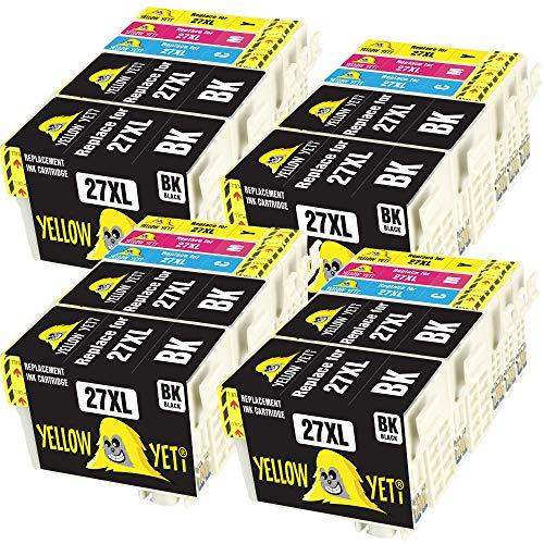 Yellow Yeti Reemplazo para Epson 27 27XL   20 Cartuchos de Tinta compatibles con Epson Workforce WF-7610DWF WF-3620DWF WF-3640DTWF WF-7720DTWF WF-7710DWF WF-7210DTW WF-7110DTW WF-7620DTWF WF-7715DWF