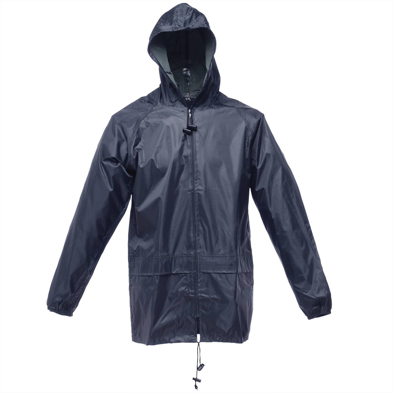 Details about  /Regatta Men Waterproof Jacket Adult Squad Rain Winter Work Coat Hoodie Top Black