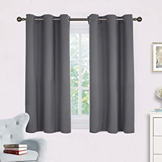 NICETOWN Grey Blackout Curtain Panels for Bedroom, Thermal Insulated Grommet Top Blackout Draperies and Drapes (2 Panels,W42 x L45 inches,Grey)