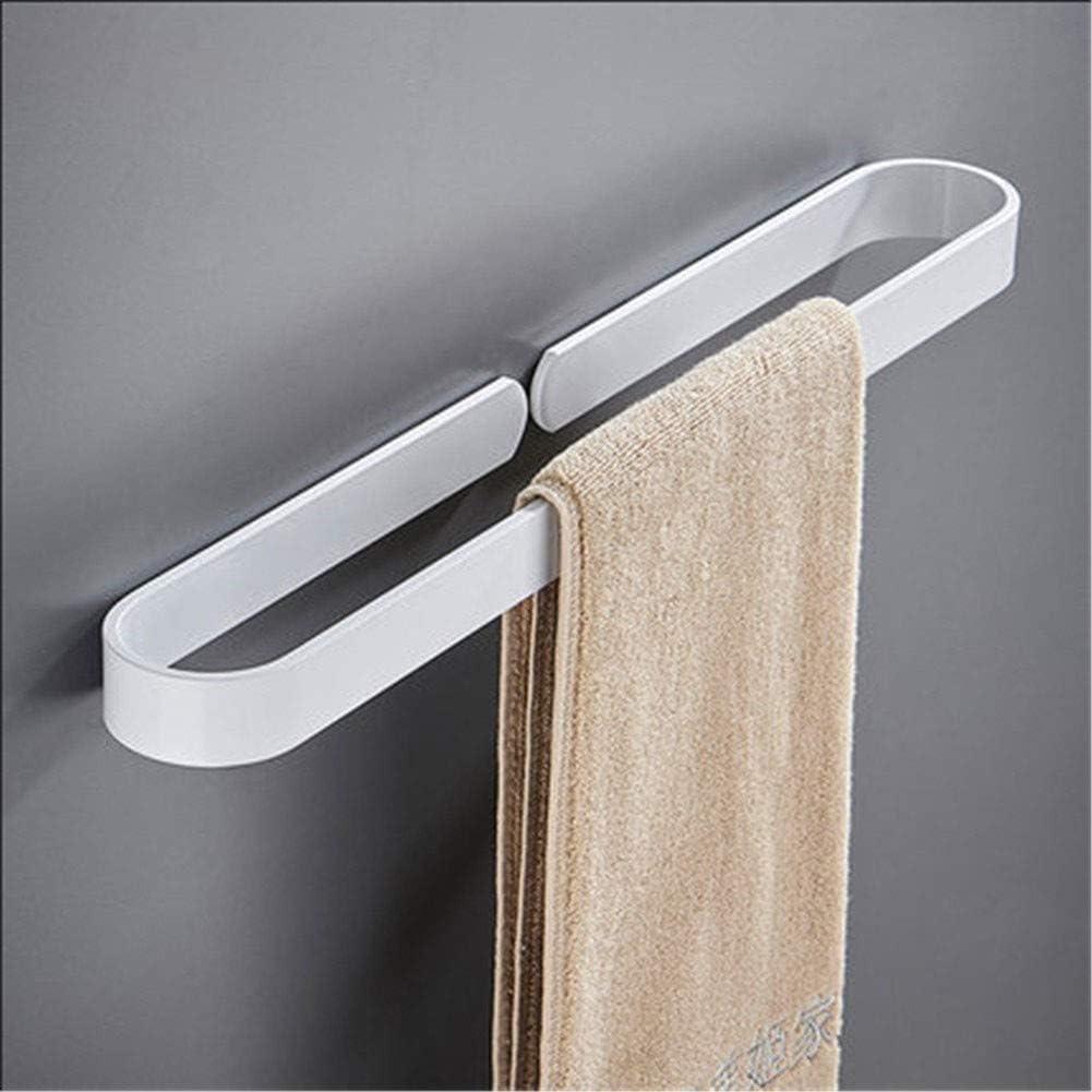 Wei/ße Handtuchring Runde Stil Form Wandmontierter Handtuchhalter Aufh/änger Badezimmer Zubeh/ör Badetuchhalter Bad