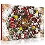Dusor Adventskalender Duftkerzen mit 24 Aroma Kerzen und 1 Teelichthalter