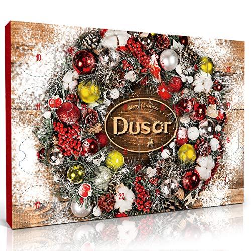 Dusor Adventskalender Duftkerzen Geschenke Set, mit 24 Aroma Kerzen und 1 Teelichthalter aus Glas, Weihnachten und Hochzeiten Geschenke,Adventskalender 2020