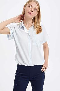DeFacto Düşük Omuzlu Çizgili Gömlek
