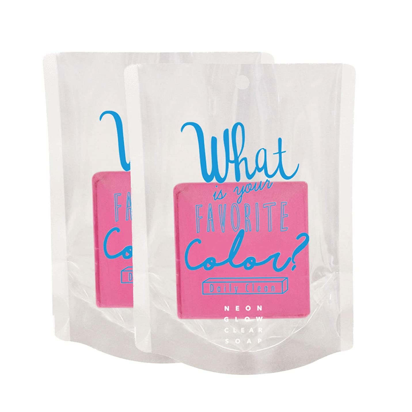ポータル気をつけて流行ノルコーポレーション 石けん ネオングロー クリアソープ 2個セット カシスの香り OB-NGW-2-1